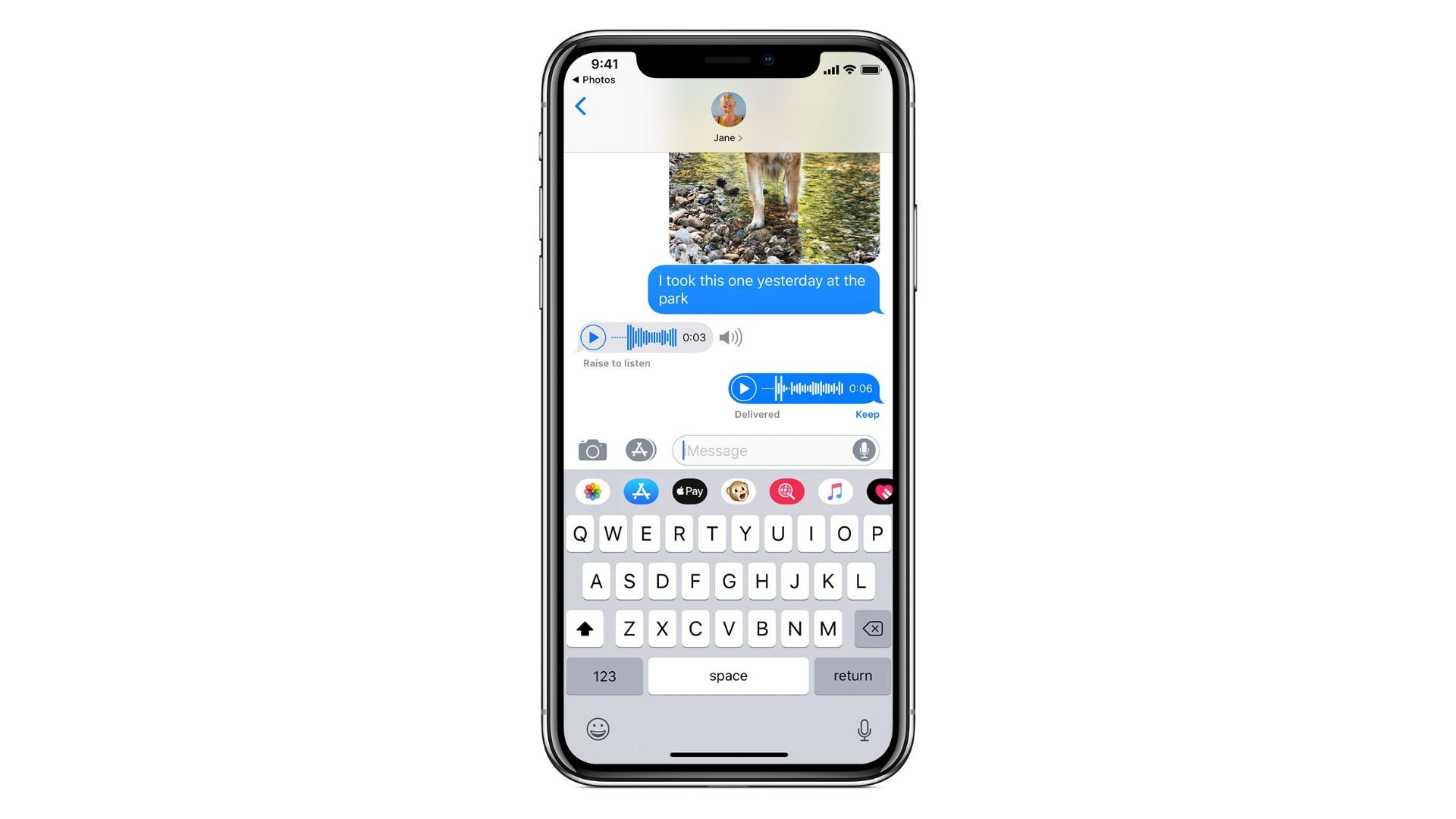 iphone pe fundal alb