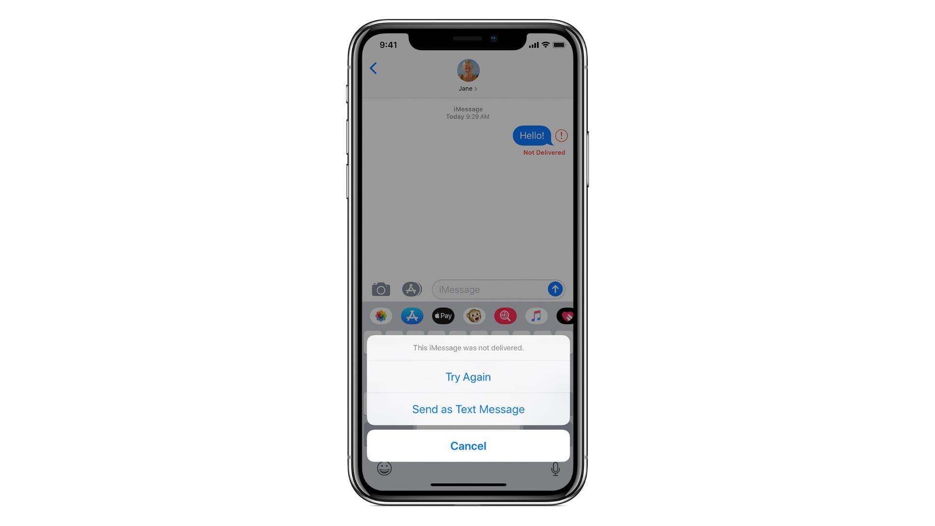 iphone negru pe fundal alb